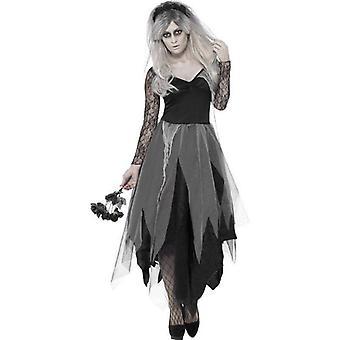 Graveyard Bride Costume Adult Grey