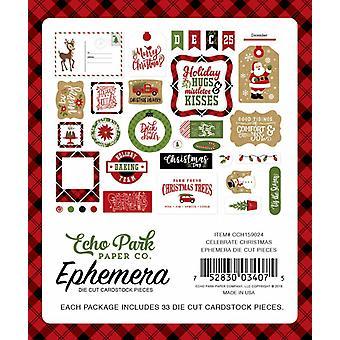 Echo Park feiern Weihnachts-Ephemera