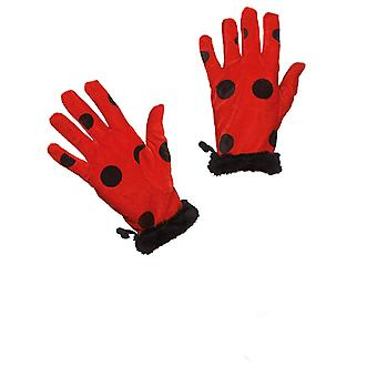 Ladybug gloves red black spotted beetle glove accessory Carnival