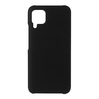 Huawei P40 Lite Gumowana twarda plastikowa powłoka - czarna