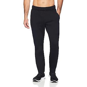 Peak Velocity Men's Metro Fleece Straight-Fit Sweatpant, black, Small