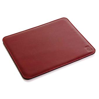 Burgundy Oxford Leather Mouse Mat
