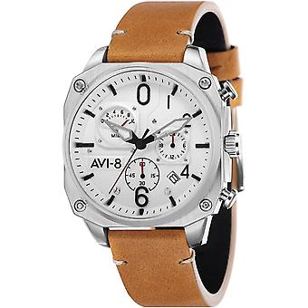 Montre Avi-8 AV-4052-01 - Montre Chronographe Acier Marron Homme