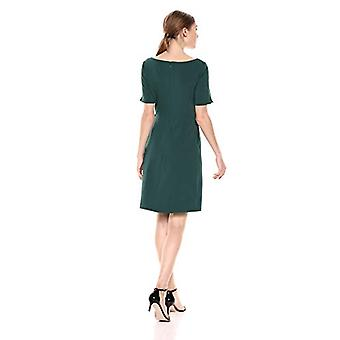 Marke - Lark & Ro Frauen's Kurzarm Bateau Hals Mantel Kleid mit P...