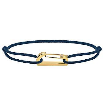 Rochet B186706 pulsera - KIM PVD Yellow Cordon Cotton Marine R glable Femme