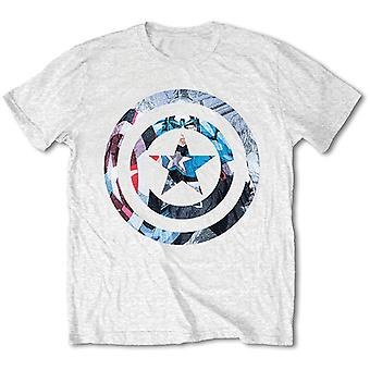 White Marvel Comics Captain America Knock-Out Official Tee T-Shirt Unisex