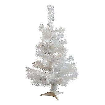 2ft (60cm) Kunstmatige Witte Kerstboom met standaard