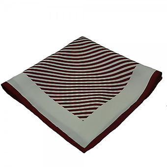 Ties Planet Red & White Striped Silk Batista