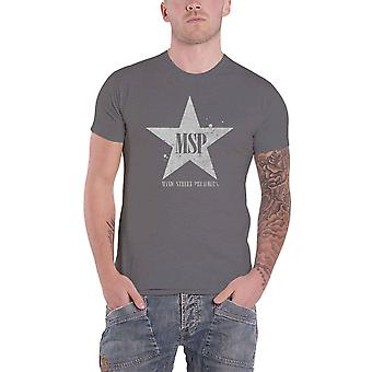 Manic Street Preachers T Shirt Classic Distressed Star Official Charcoal Grey