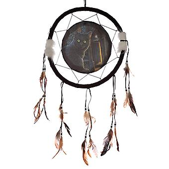 Decorative Cat Design What Lies Within 33cm Dreamcatcher X 1 Pack