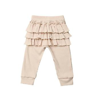 Newborn Baby Ruffle Pants Solid Leggings Trousers Casual School Long Pants