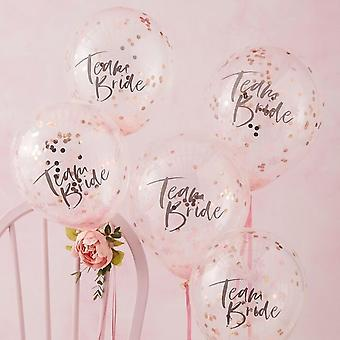 TEAM BRIDE CONFETTI BALLOONS - FLORAL HEN PARTY