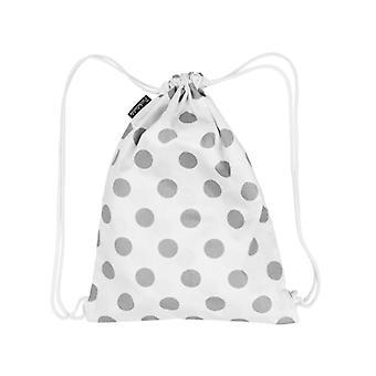 Saco de ginástica Puckdaddy Madita 29x38cm saco com cordão com padrão de pontos em branco
