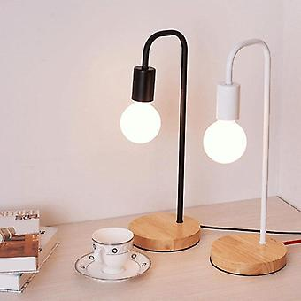Modern Wood Desk Lights Wooden Bedside Table Lamps For Living Room Simple Light Fixtures For Room Decor On Off Switch