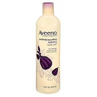 Aveeno Active Naturals Hydrating Positively Nourishing Body Wash, Fig And Shea Butter 16 oz