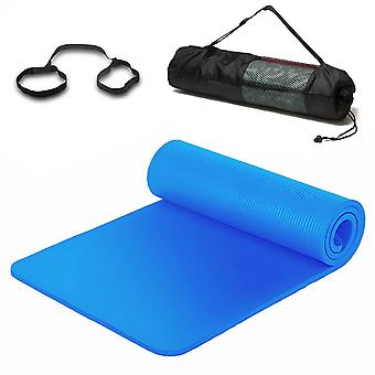 Yoga Mat for Pilates Gym Exercise Carry Strap Comfortable 10mm Thick Non Slip