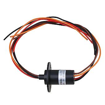 15A 240V 250RPM 4 Way Conductors Circuits Slip Ring for Test Equipment