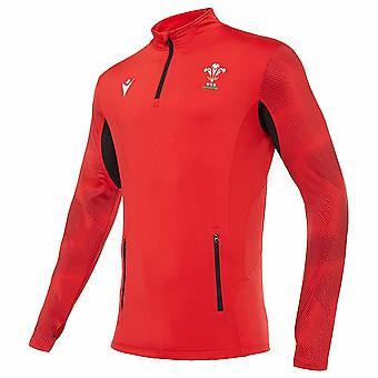 2020-2021 Wales Quarter Zip Softshell Chaqueta (Rojo)