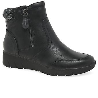 Soft Line (Jana) Olive Womens Dual Zip Fastening Ankle Boots