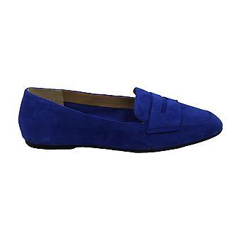 Enzo Angiolini Womens Leeba Suede Square Toe Loafers
