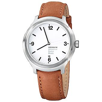 Mon helvetica no1 bold 43 watch for Swiss Quartz Analog Men with cowhide bracelet MH1. B1210. Lg