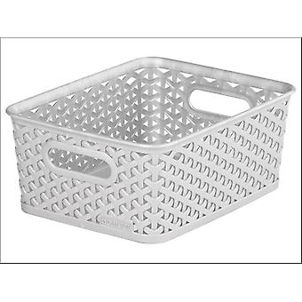 Curver Storage Basket Rattan Effect Grey 8L 232281