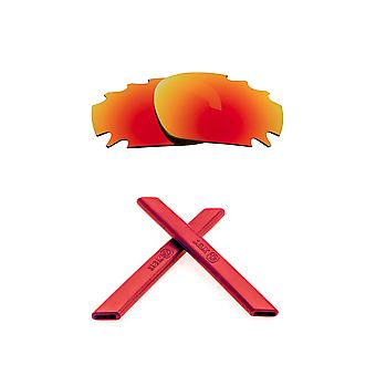 Replacement Lenses & Kit for Oakley Vented Racing Jacket Red Mirror & Red Anti-Scratch Anti-Glare UV400 by SeekOptics