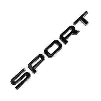 Gloss Black/Silver Land Rover Sport Lettering Rear Boot Badge Emblem For Range Rover Evoque Discovery FreeLander