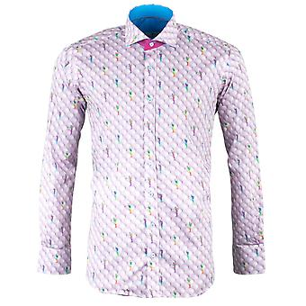 Claudio Lugli Golf Ball Print Mens Shirt