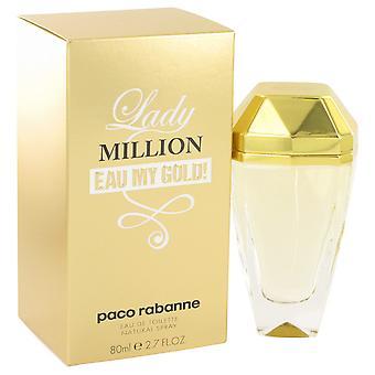 Lady Million Eau My Gold By Paco Rabanne EDT Spray 80ml
