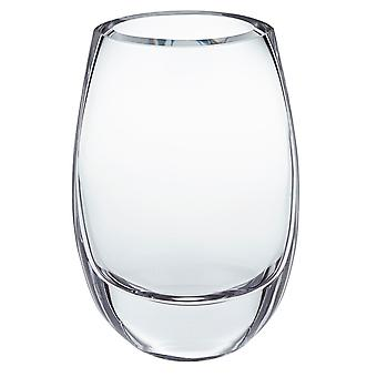 """Crescendo European Mouth Blown Oval Thick Walled Vase 7.5"""""""