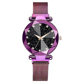 Ladies Magnetic Starry Sky Clock Luxury Women Watches Diamond Female Quartz