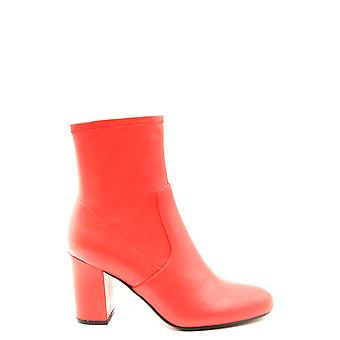 Steve Madden Ezbc077018 Women's Red Leather Ankle Boots