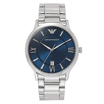 Armani AR11227 Mens Stainless Steel Silver & Blue Watch