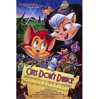 Kissat eivät tanssi elokuvajuliste (11 x 17)