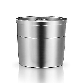 Koffiezetapparaat machine / roestvrij staal metaal navulbare herleesbare Capsule Fit