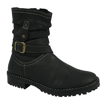Hush Puppies Lucielle Kids Girls Boots Black Leather (HKY8050-001 U35)