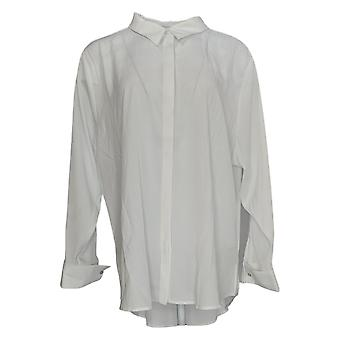 StyleList By Micaela Women's Top Collared Long Sleeve White A388835