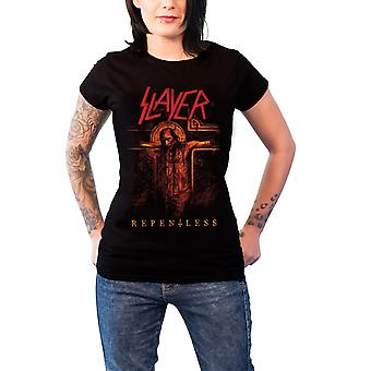 Slayer T Shirt Repentless Crucifix Band Logo new Official Womens Skinny Fit
