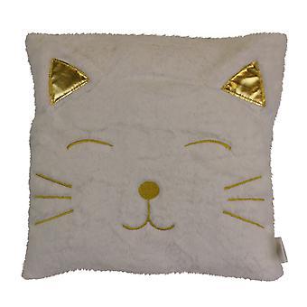 Fluffy Cat Cushion, 34cm