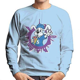 Slush Puppie Distressed World Background Men's Sweatshirt