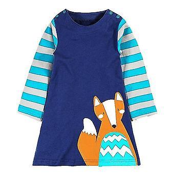 שרוול ארוך הנסיכה טוניקה ג'רזי שמלת, עיצוב פוקס, תינוק