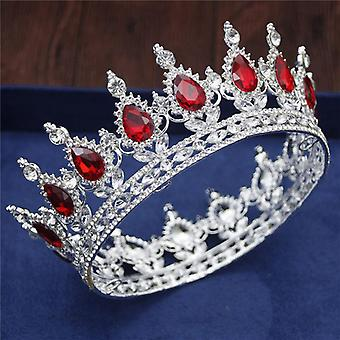 Kristal Vintage Kraliyet Kraliçesi Kral Tacı ve Taçları, Erkekler /Kadınlar Yarışma Balosu