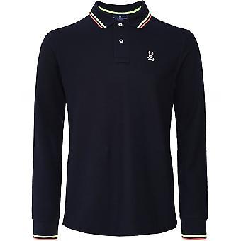 Psycho Bunny Long Sleeve Norbury Polo Shirt