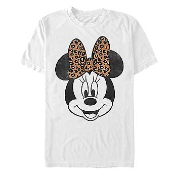Mickey Mouse Modern Minnie Face Leopard T-Shirt