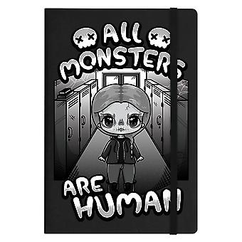 Mio Moon All Monsters Are Human A5 Notebook