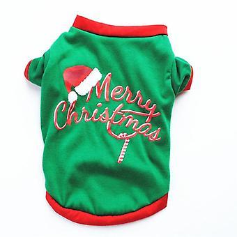 Christmas Dog Clothes  Pet Clothing Dogs Vest Shirt