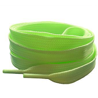 Vihreä pastelli litteä kouluttaja kengännauhat nauhat
