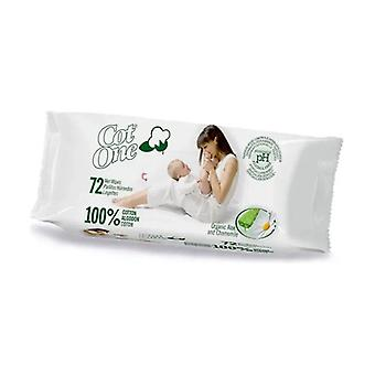 100% Cotton Wet Wipes 72 units