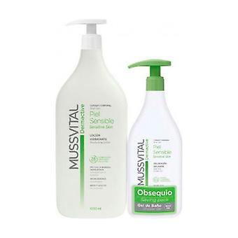 Sentitive Skin Gel Dermactive Mussvital Pack 1000ml + 400ml